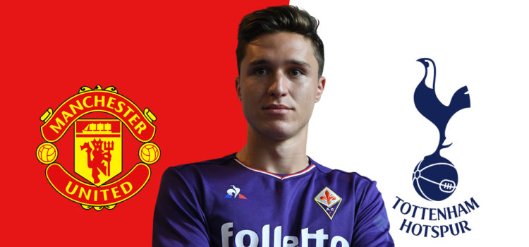 Manchester United & Tottenham battle all out for Federico Chiesa