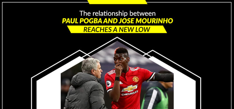 The relationship between Paul Pogba and Jose Mourinho reaches a new low